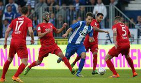 Vor drei Jahren war Kickers Offenbach bei den Aufstiegsspielen gegen Magdeburg nicht erfolgreich - vielleicht ändert sich das 2018. Foto: getty images