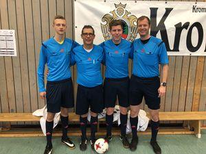 Die Schiedsrichter des Finaltages (v.l.n.r. Christian Brumm, Rene Sauerwald, Marcus Schmidt, Volker Höpp)