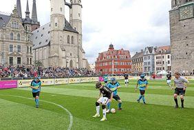 Wiederholung des Finales von 2017 in der Blindenfußball-Bundesliga - FC St. Pauli gegen SF BG Blista Marburg. [Foto: Blindenfußball-Bundesliga]