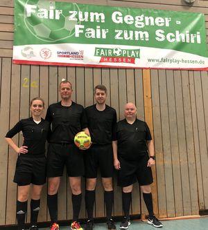 Die Schiedsrichter der Zwischenrunde (v.l.n.r. Julia Boike, Volker Höpp, Stefan Schäfer, Rolf Seifert)