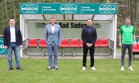 Die Verantwortlichen der SG Bad Soden gehen optimistisch in die kommende Saison (von links): Wladimir Römmich, Martin Berg, Sead Mehic und Anton Römmich.   Foto von: SG Bad Soden