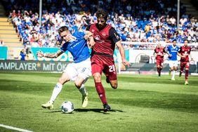 Ein hart umkämpftes Spiel der Darmstädter führt zum Punktgewinn gegen den 1. FC Nürnberg. [Foto: SV Darmstadt 98]