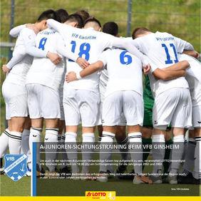 A-Junioren-Fußballer finden beim VfB Ginsheim optimale Entwicklungsbedingungen vor. [Foto: VfB Ginsheim]
