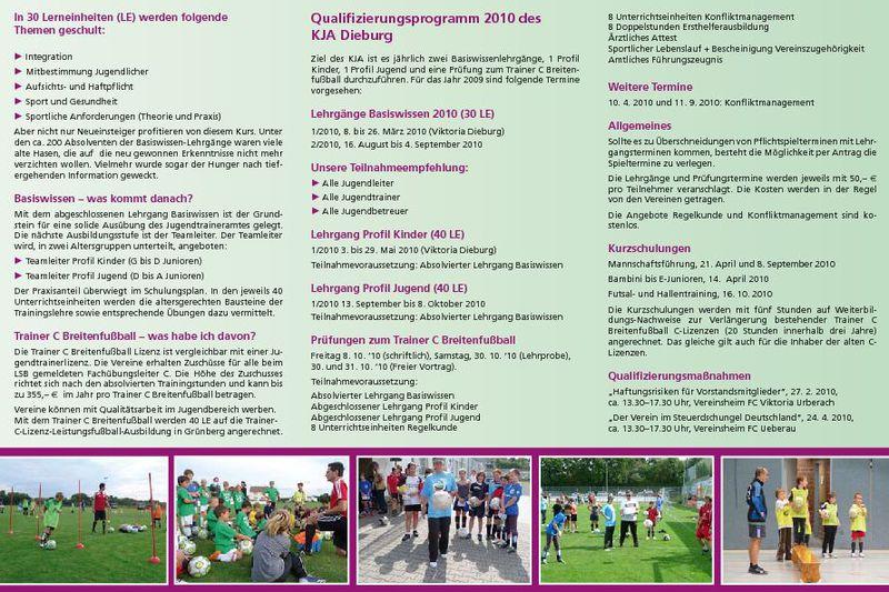 qualifizierungsmanahmen 2010 fr jugendtrainer - Sportlicher Lebenslauf