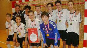 Die Sieger der Futsal-Meisterschaften der A-Junioren: JFV Wald-Michelbach / Abtsteinach. Foto: HFV