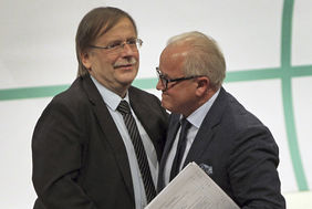 Dr. Rainer Koch und Fritz Keller (v.l.). Foto: getty images