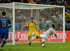 Unvergesslich: Mario Götze mit dem Siegtreffer im WM-Finale 2014 gegen Argentinien. Foto: getty images
