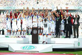 So feiernd würden wir die Hessinnen gerne auch in diesem Jahr nach dem DFB-Pokalfinale sehen. Foto: getty images