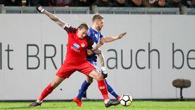 SVWW-Stürmer Manuel Schäffler (im Vordergrund) erzielte zwei Treffer gegen die Sportfreunde Lotte. Foto: getty images