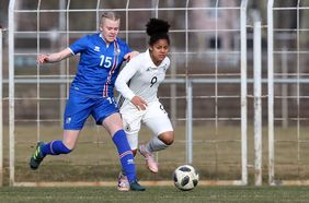 Die deutsche U17-Nationalspielerin Shekiera Martinez. Foto: getty images