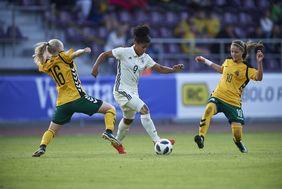 Shekiera Martinez sorgte für den Schlusspunkt des Spiels gegen Potsdam. Foto: getty images