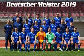 Deutscher Meister: Die HBRS-Hessenauswahl im Fußball! Foto: HBRS