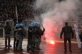 Eintracht Frankfurt wurde nun für die Vorfälle in Rom bestraft. Foto: getty images