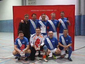 FV Stierstadt, Sieger des HFV Ü50-Deine-Manndeckung-Futsal-Cup 2019. Foto: HFV
