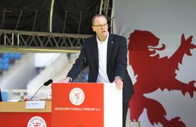 Mit klarer Mehrheit wiedergewählt: HFV-Präsident Stefan Reuß. Foto: Jaux