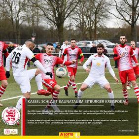 Auch Löwen-Torjäger Mahir Saglik trug sich im Pokal-Viertelfinale gegen Baunatal in die Törschützenliste ein. [Foto: KSV Hessen Kassel]