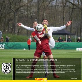 Im Bitburger Hessenpokal empfängt die Überraschungsmannschaft aus Eddersheim den Regionalliga-Aufsteiger FC Gießen. [Foto: FC Gießen]