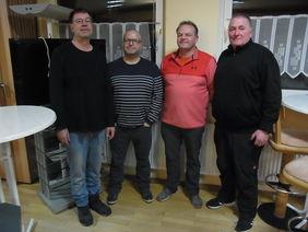 Bild von Links: Jürgen Milbredt, Christoph Baron, Michael Mehrer, Karl-Heinz Kampeis