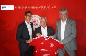 Fabian Weiland (Gebietsleiter KKH), Gerhard Hilgers (Geschäftsführer HFV) und Wolfgang Storminger (Regionalleiter KKH, v.l.) freuen sich über die neue Partnerschaft. Foto: HFV