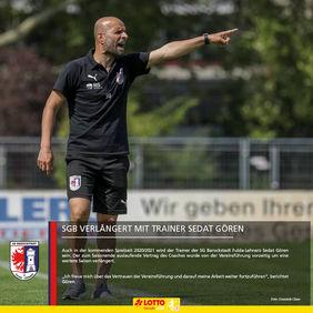 Wird auch in der kommenden Saison die Kommandos vom Spielfeldrand geben - SGB-Coach Sedat Gören. [Foto: Dominik Claus]