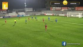 Am Freitagabend vielen in der LOTTO Hessenliga lediglich in der Partie SC Hessen Dreieich gegen VfB Ginsheim Tore. [Foto: Ausschnitt Torshow]