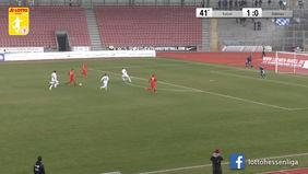 Mit dem 2:0-Heimerfolg rückt der KSV Hessen Kassel wieder näher ran an den FC Bayern Alzenau und die Aufstiegsränge in die Regionalliga Südwest. [Foto: Ausschnitt Torshow]