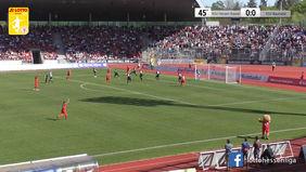 Über 15.000 Zuschauer sahen das Nordhessen-Derby zwischen dem KSV Hessen Kassel und dem KSV Baunatal - neuer LOTTO Hessenliga Rekord. [Foto: Ausschnitt Torshow]