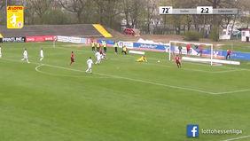 Nach dem Heimspiel konnte sich der FC Eddersheim auch auswärts beim Tabellenführer der LOTTO Hessenliga FC Gießen durchsetzen. [Foto: Ausschnitt Torshow]