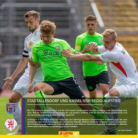 Duellieren sich höchstwahrscheinlich bald in der vierten Liga - der TSV Eintracht Stadtallendorf und der KSV Hessen Kassel. [Foto: Stefan Tschersich]