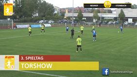 Das Osthessen-Derby zwischen SV Neuhof und dem SV Steinbach ging mit 3:2 an die Steinbacher. [Foto: Ausschnitt Torshow]