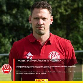 Bleibt auch in der kommenden Spielzeit Trainer in Hadamar: Stefan Kühne. [Foto: SV Rot-Weiß Hadamar]