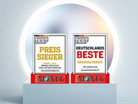 LOTTO Hessen mit zwei Auszeichnungen beim DEUTSCHLAND TEST. [Foto: LOTTO Hessen]