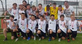 Die D-Junioren des FC Germania 08 Weilbach sind der neue D-Junioren-Hessenmeister. Foto: HFV