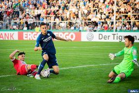 KSV Baunatal unterliegt knapp dem Zweitligisten VfL Bochum in der ersten Runde des DFB-Pokal. [Foto: Carolin Woito]