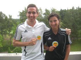 Tobias Stieler und Katrin Rafalski – zwei unserer hessischen Spitzenschiedsrichter (Bild: Karsten Vollmar)