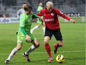 Auch im zweiten Hessenderby gegen Wehen blieb der OFC sieglos, Foto: Hartenfelser/a2bildagentur