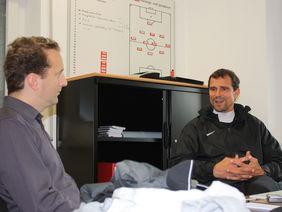Matthias Mink (re.) im Interview mit Matthias Gast. Foto: Timmas