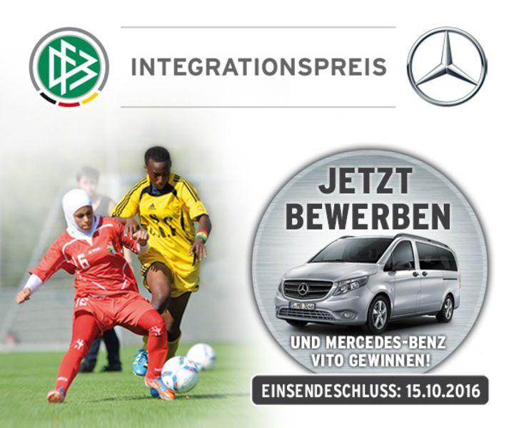 dfb mercedes benz integrationspreis jetzt bewerben - Mercedes Benz Bewerbung