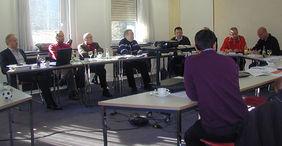 Jetzt nicht nur Experten in Rechtsangelegenheiten, sondern auch in der Präsentation: Sportrichter des Hessischen Fußball-Verbandes. Foto: privat