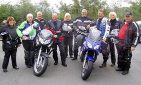 Gleich geht es los: In den Thüringer Wald führte die diesjährige Motorradtour der Schiedsrichter-Vereinigung Dillenburg. spa