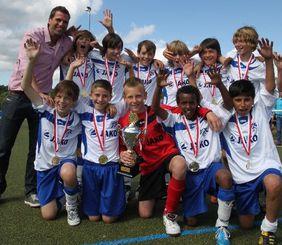 Der JFC Frankfurt verteidigte seinen Titel als D-Junioren-Hessenmeister