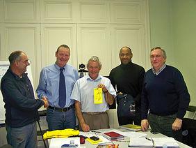 Beim Besuch in Bordeaux (von links): Michel Letoqueux, Michael Glameyer, Christian Chartier, Claude Deriau-Reine und Guy François. Foto: privat